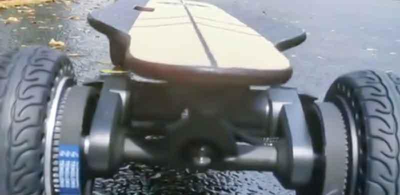 GT electric skateboard-waterproof test